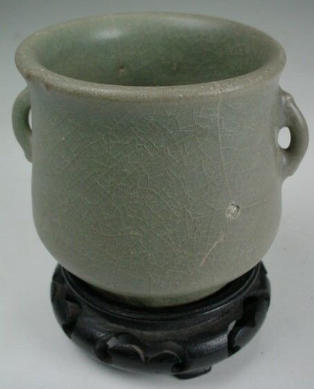 7: Longquan Celadon Double Handled Tea Cup Southern Son - 3