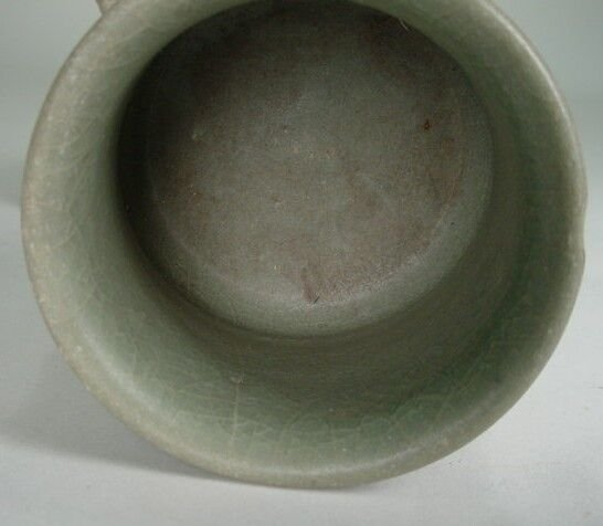 7: Longquan Celadon Double Handled Tea Cup Southern Son - 4