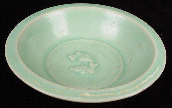17: Longquan Celadon Twin-Fish Dish. Southern Song Dyna