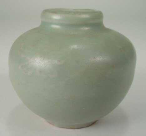 23: Small Longquan Celadon  Spherical Jar/Miniature Vas