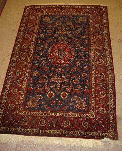 81: pr Mid-Century Persian Kashan Oriental Rugs. Burgan
