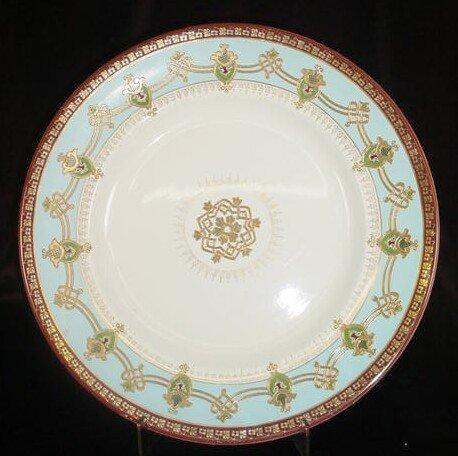 114: Antique Art Nouveau Russian Enameled Charger. Rais