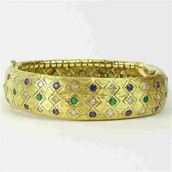 Lady's Vintage 18 Karat Yellow Gold Flexible Link