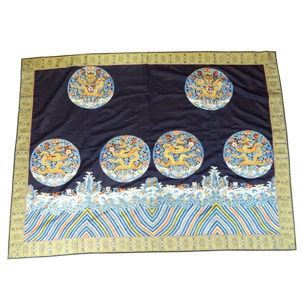 20th Century Chinese Silk Embroidered Wall Hanging