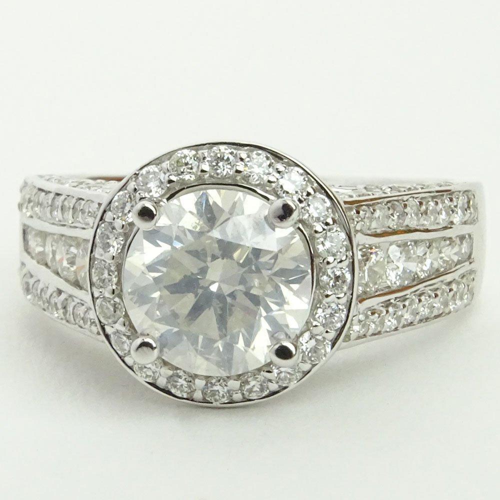 EGL Certified 1.63 Carat Round Brilliant Cut Diamond