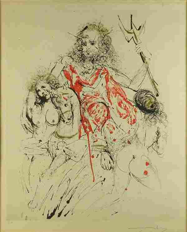Salvador Dalí, Spanish (1904-1989) Color Lithograph.
