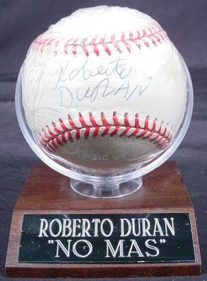"1004: Baseball signed: ""Roberto Duran"" Rawlings Officia"