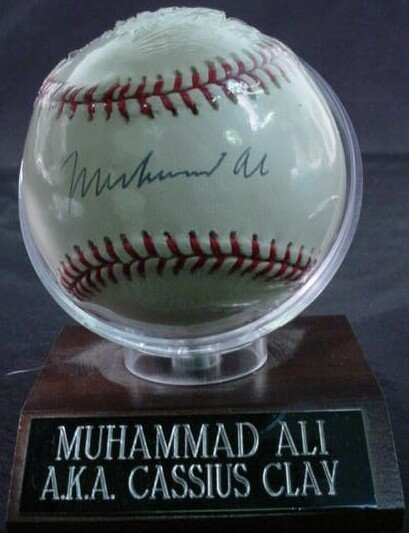 "1005: Baseball signed: ""Muhammad Ali"" Rawlings Official"