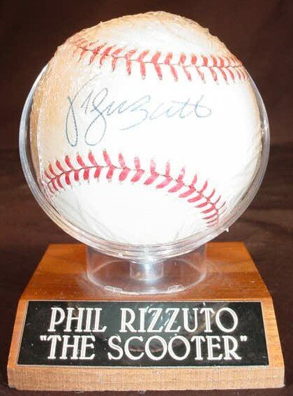 "1016: Baseball signed: ""Phil Rizzuto"" Rawlings Official"