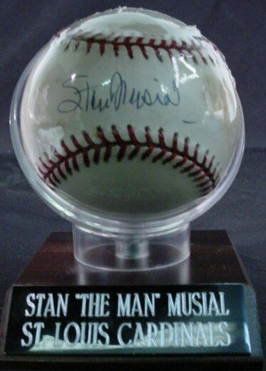 "1020: Baseball signed: ""Stan Musial"" Rawlings Official"