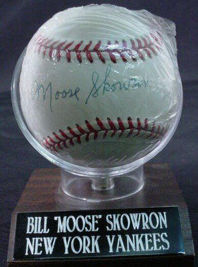 "1021: Baseball signed: ""Moose Skowron"" Rawlings Officia"
