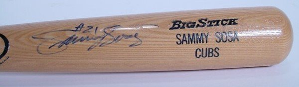 "1024: Rawlings Big Stick Bat signed: ""Sammy Sosa #21"" B"