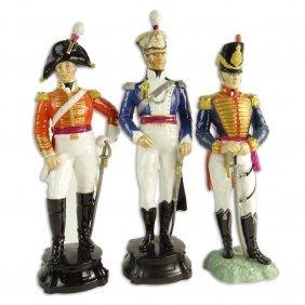 "Three (3) Royal Worcester Porcelain Figurines. ""officer"