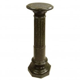 20th Century Carved Granite Pedestal. Unsigned. Surface