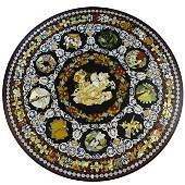 Large Vintage Possibly Italian Pietra Dura Table Top