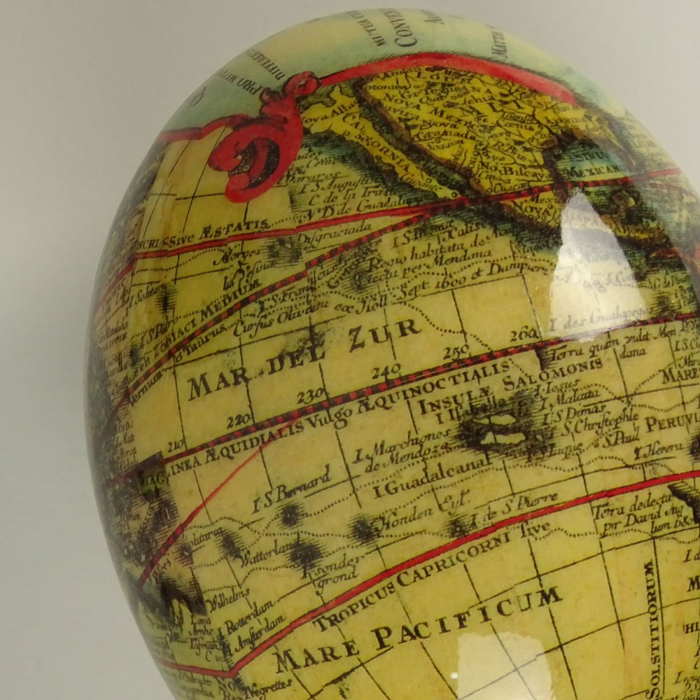 Pair of South African Decoupage Ostrich Eggs on Boar - 8