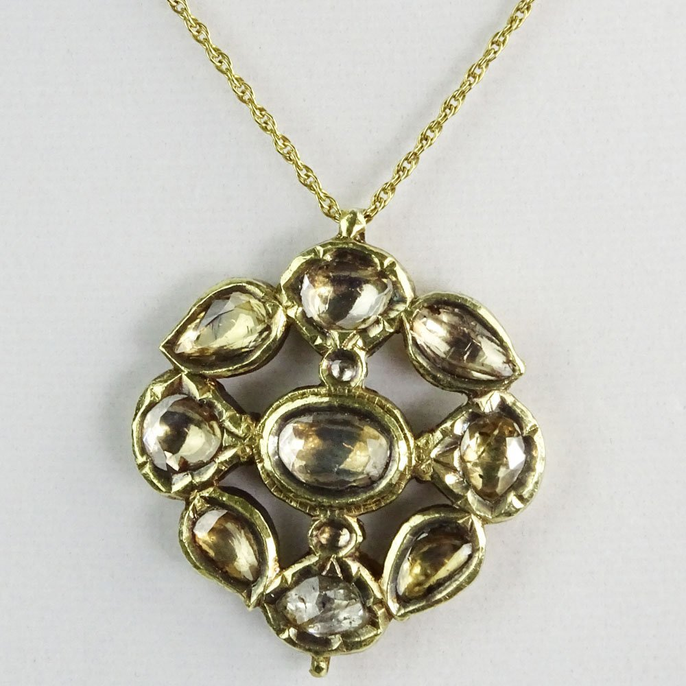Antique Mughal or Mughal Style 22 Karat Yellow Gold and