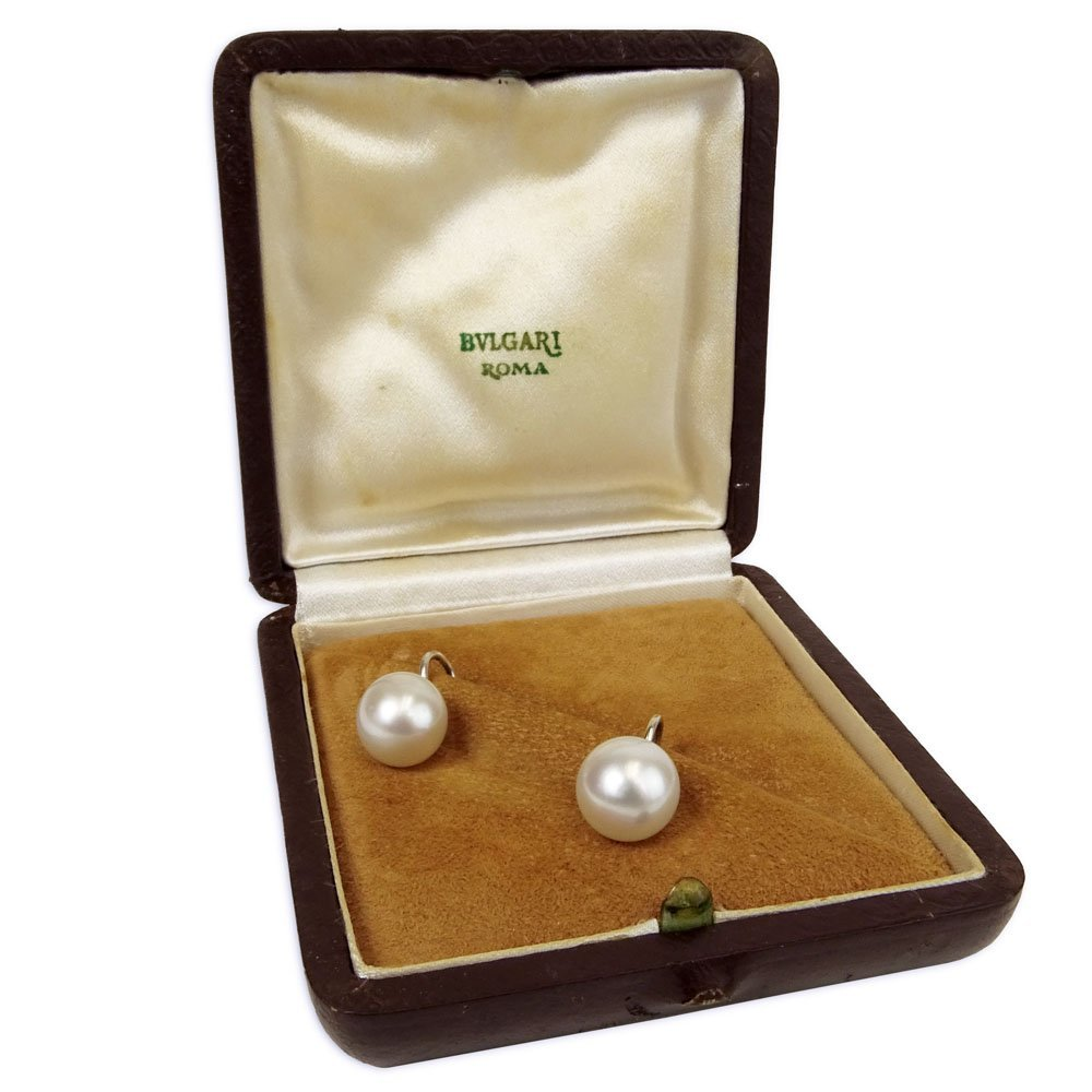 Circa 1974 Bulgari White Pearl and 14 Karat White Gold