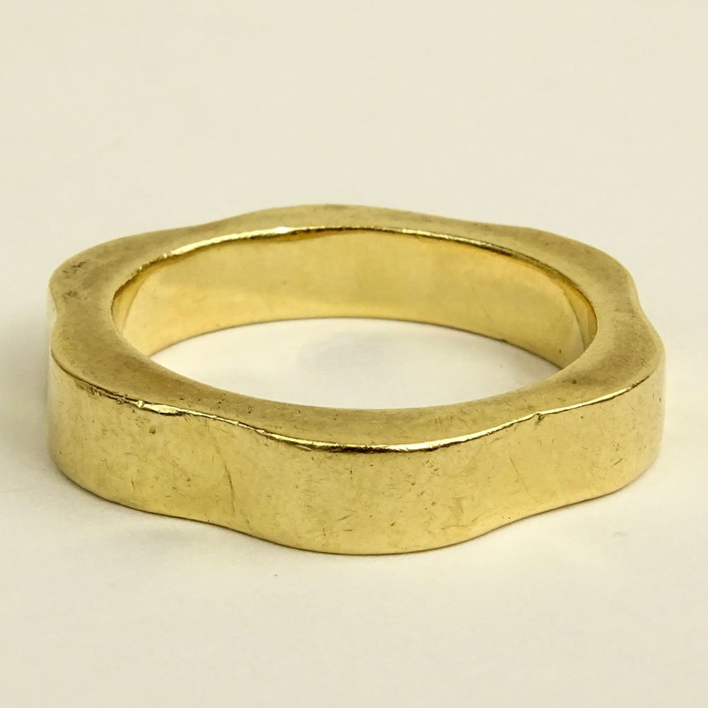 Man's Vintage 14 Karat Yellow Gold Wedding Band. Signed