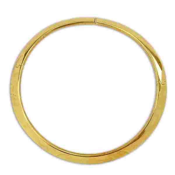Vintage 14 Karat Yellow Gold Cuff Choker Necklace.