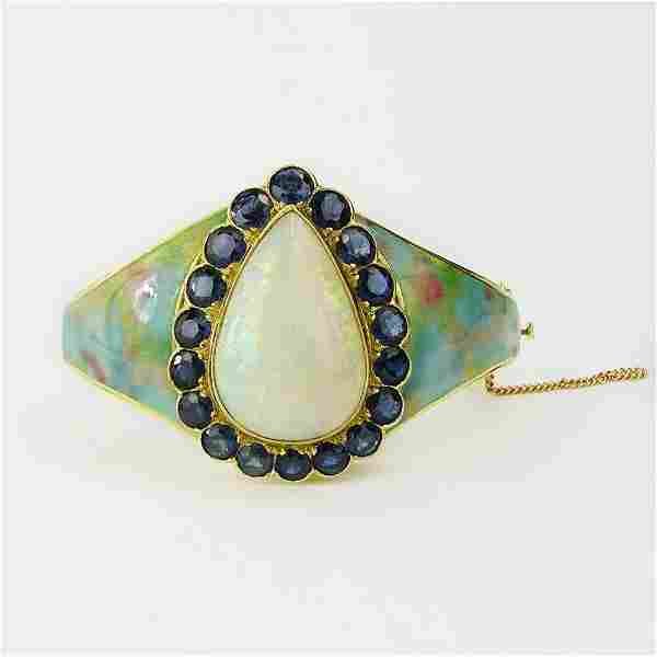 Lady's Vintage Israeli Large Pear Shape White Opal,