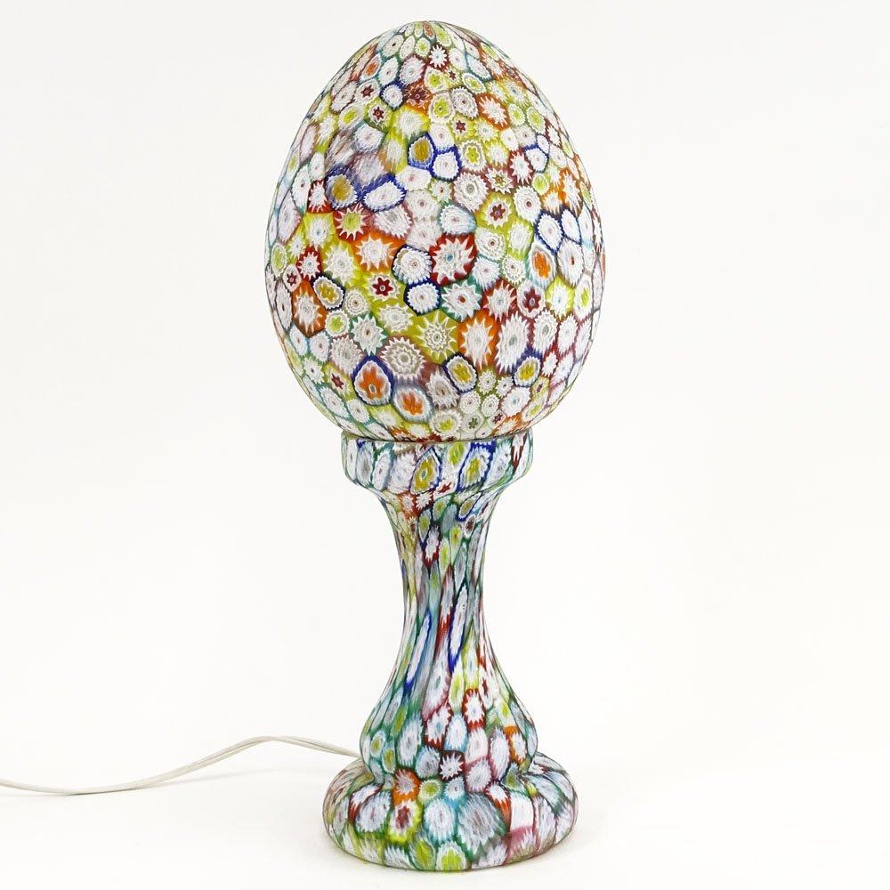 Large Mid-Century Murano Milllefiori Glass Egg Shaped