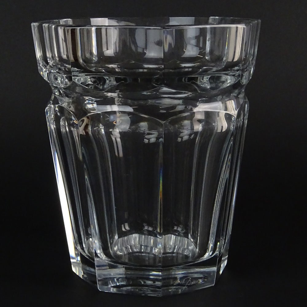 Baccarat Crystal Harcourt Ice Bucket. Signed. Minor