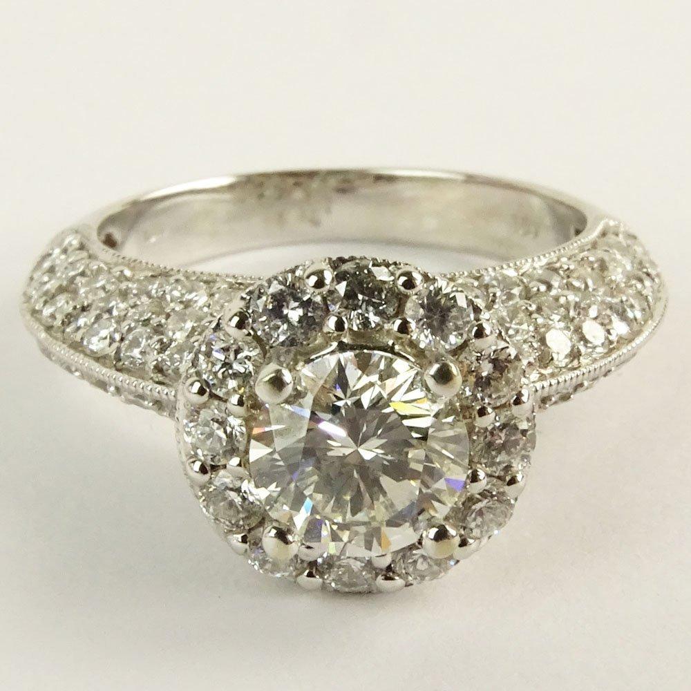 EGL Certified 1.01 Carat Round Brilliant Cut Diamond