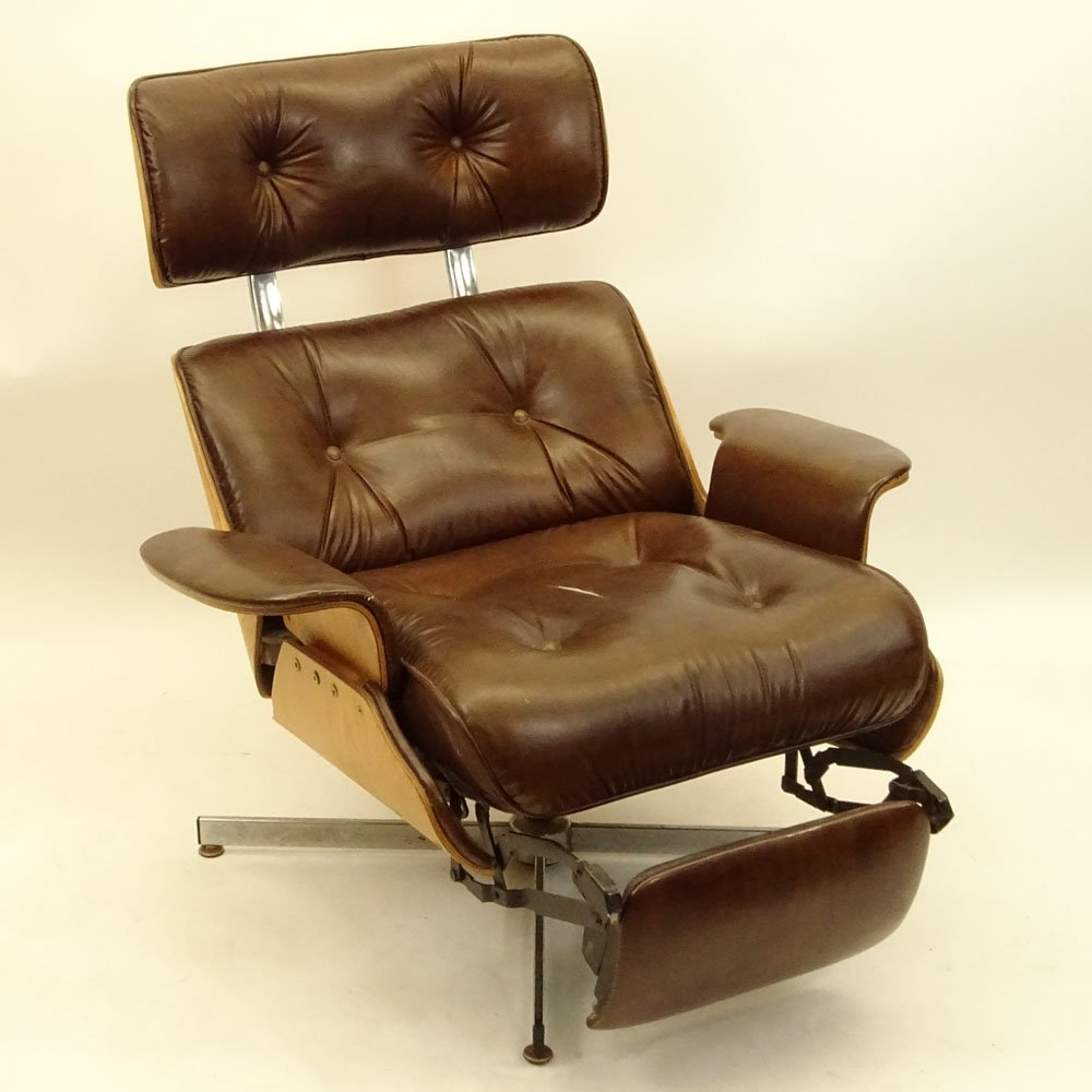 Mid Century Modern Plycraft Eames Style Recliner With - 2