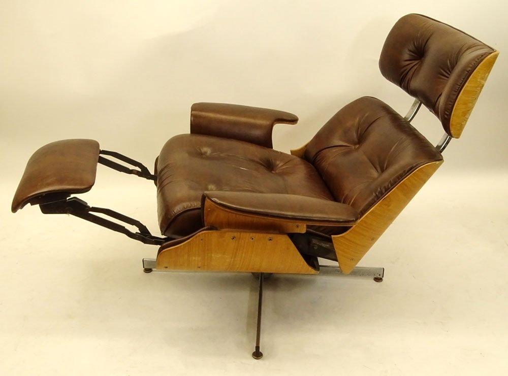 Mid Century Modern Plycraft Eames Style Recliner With - 5