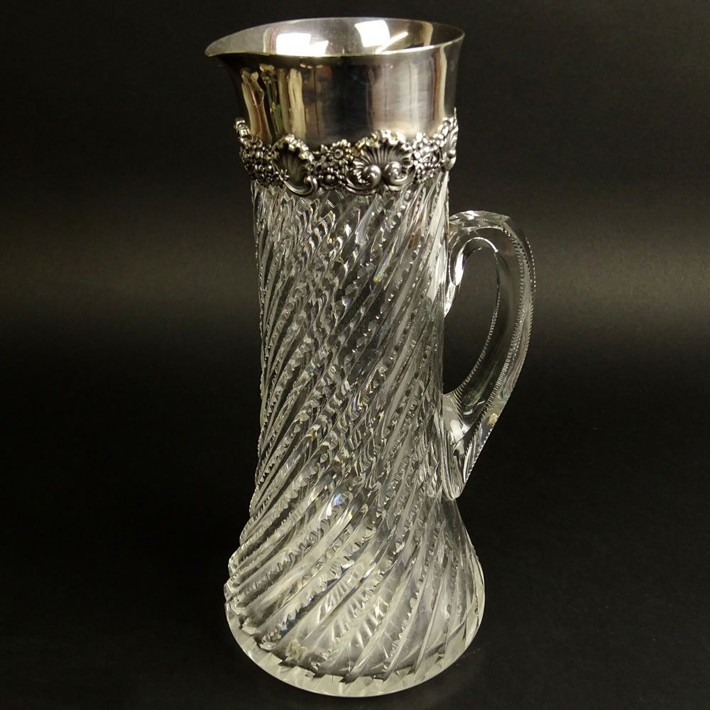 19/20th Century Tiffany & Co. Cut Crystal and Sterling