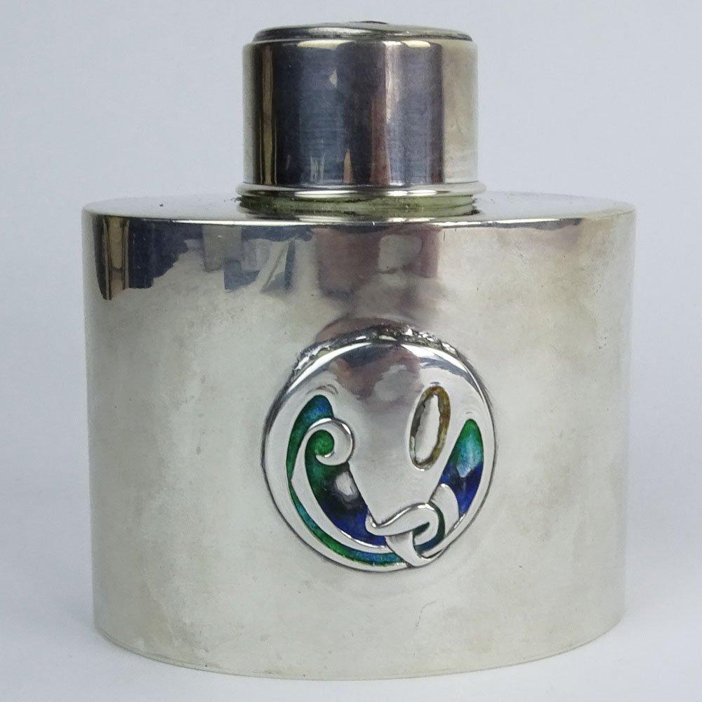 Liberty & Co. Art Nouveau Period Enameled Silver Tea