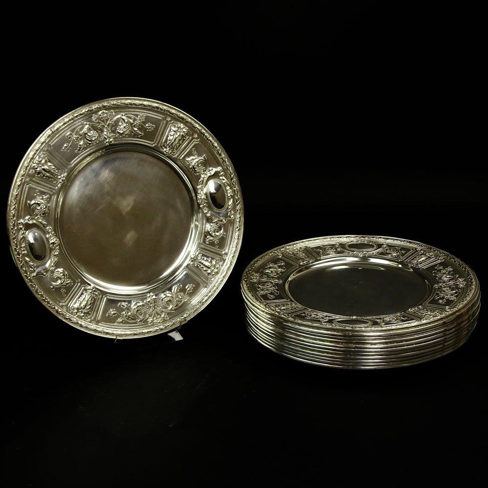 Twelve (12) Circa 1896 Gorham Sterling Silver Service