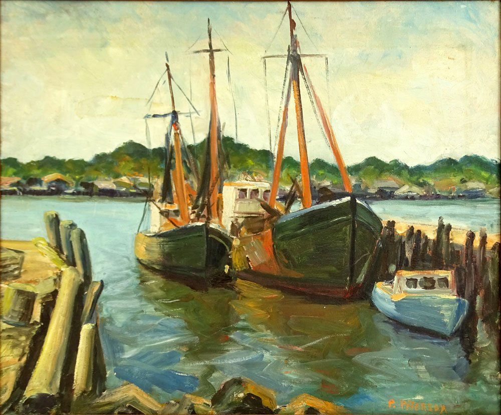 after: Jane Peterson, American (1876-1965) Oil Canvas,