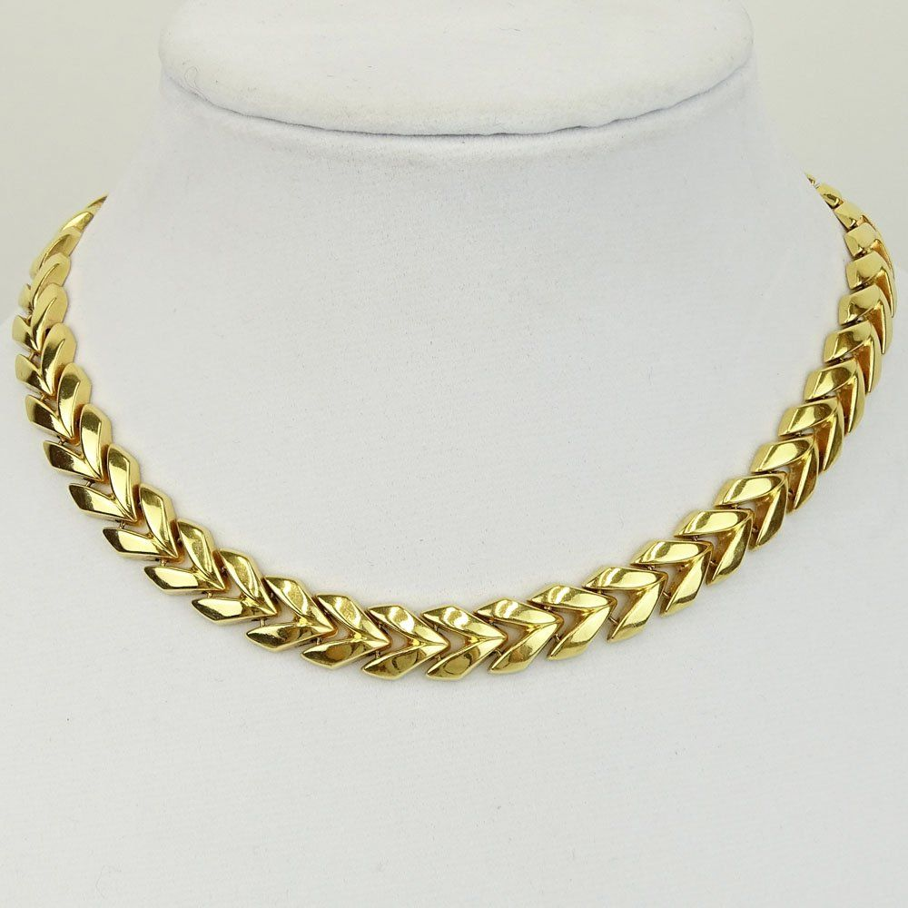 Vintage 14 Karat Yellow Gold Necklace. Signed 585,