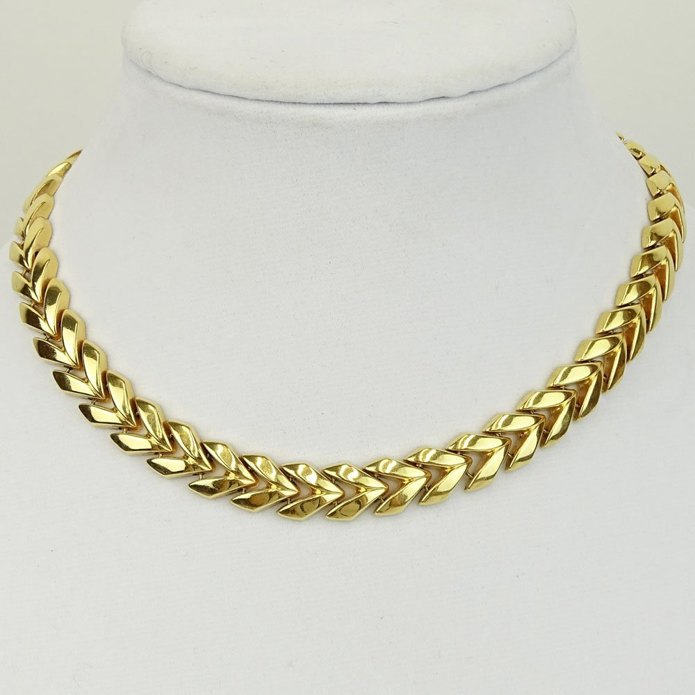 Vintage 14 Karat Yellow Gold Necklace. Signed 585,