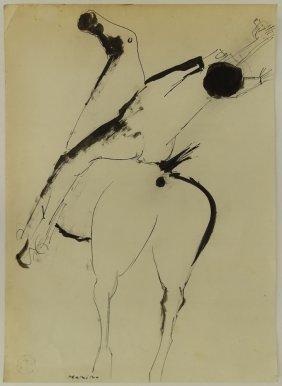 Attributed To: Marino Marini, Italian (1901-1980) Ink