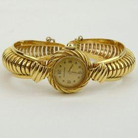 Lady's Vintage 14 Karat Yellow Gold Movado Bangle