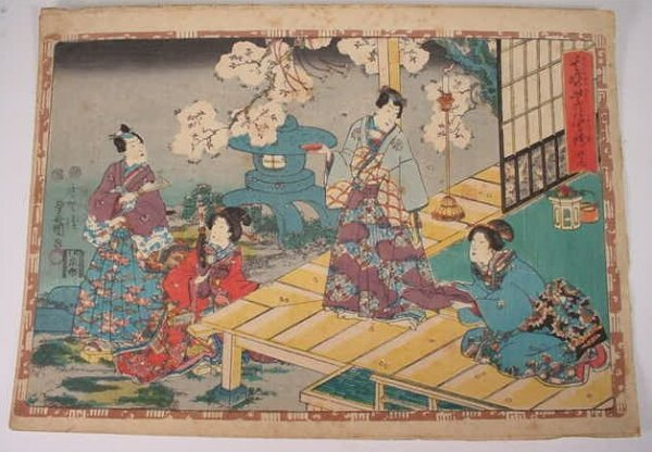 3: The Tale of Genji Woodblock Print. Chapter 42 Series