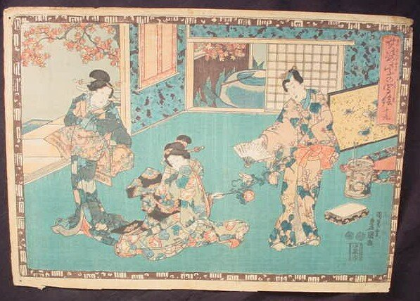 11: The Tale of Genji Woodblock Print. Series: Faithful