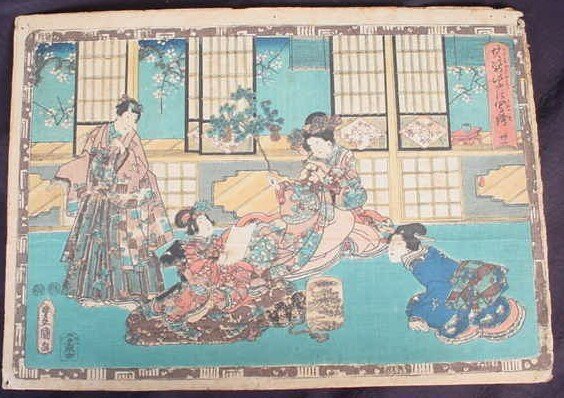 19: The Tale of Genji Woodblock Print. Series: Faithful
