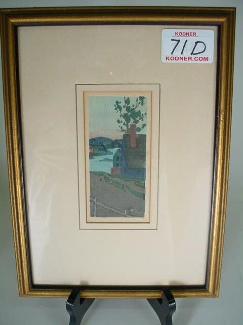 71D: Arthur Wesley Dow American Mass 1857-1922 Wood Cut