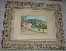 195: Elisee Maclet French (1881-1962) Watercolor on Pap