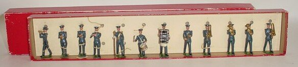 514: 1937 to 1941 William Britains #1527 RAF Band.  Pre