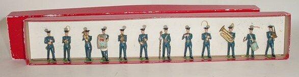 517: William Britains #2116 RAF Band Circa 1959. Twelve
