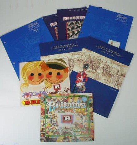 522: Eight (8) William Britains Consumer Catalogues Dat