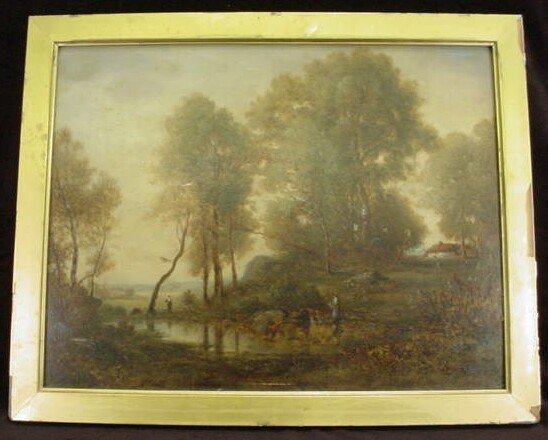 799: Early 19th Century Signed Continental School Oil o