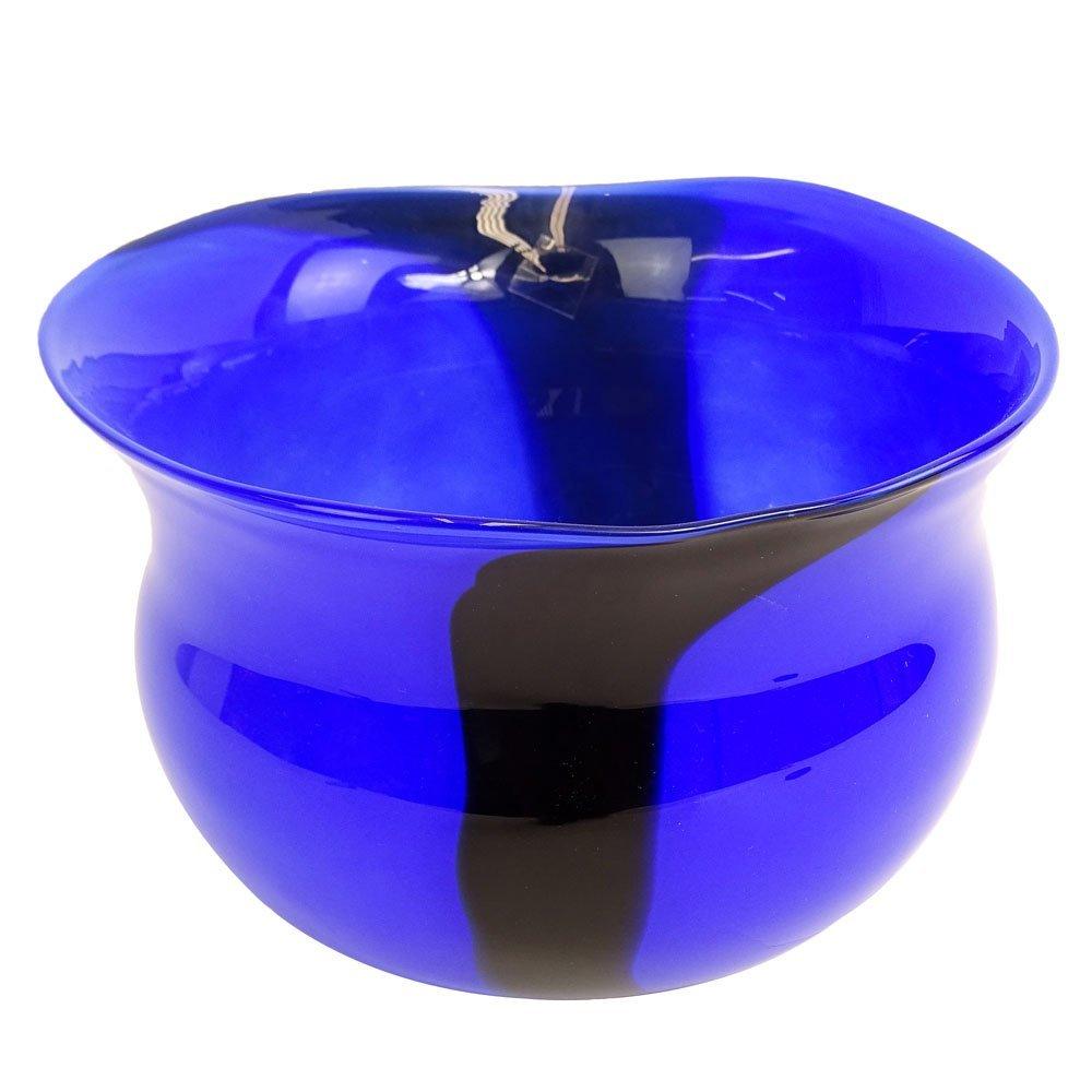 Large Mid Century Magnor Norway Art Glass Vase/Bowl.