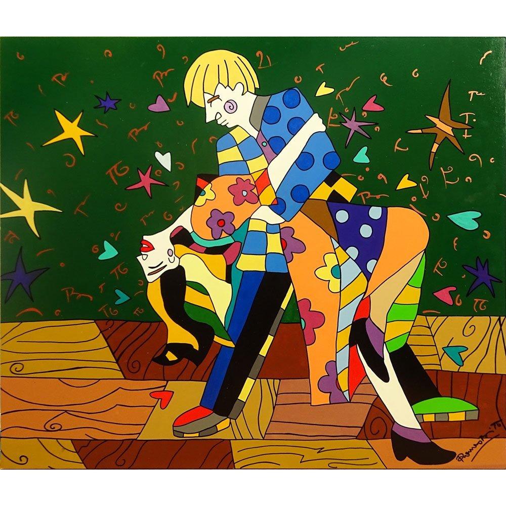 Romero Britto, Brazilian (born 1963) Acrylic on Board,