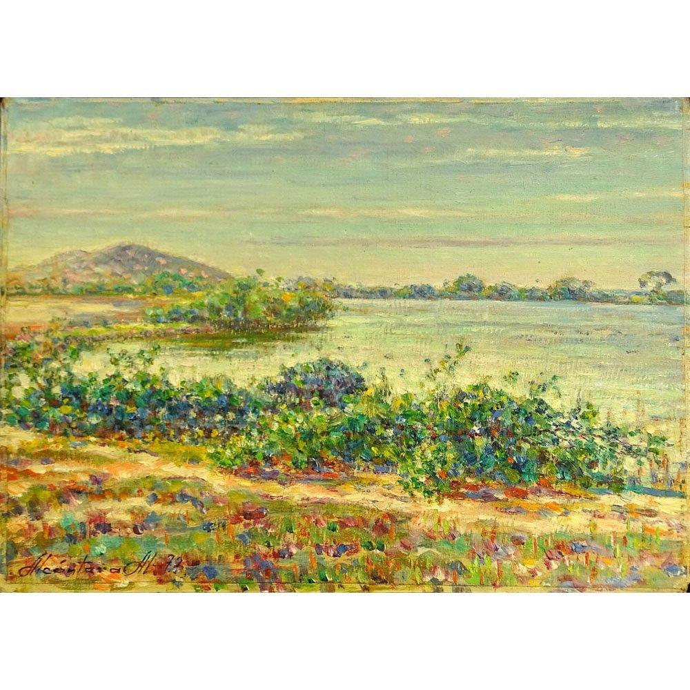 Antonio Alcantara, Venezuelan ( born 1918) Oil Canvas